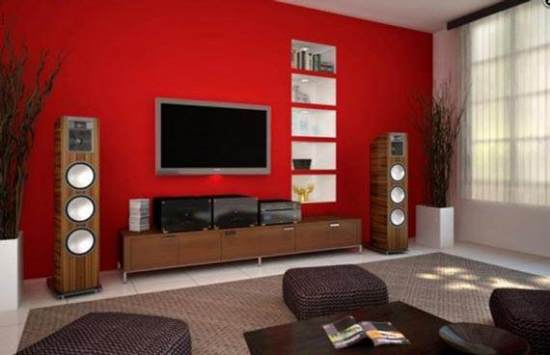 Attractive Red Living Room Ideas Part 6