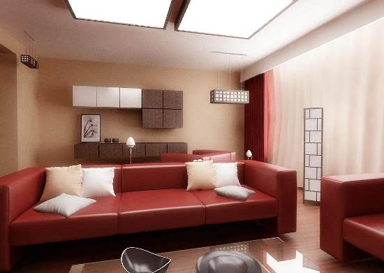 Attractive Modern Living Room With Red Furniture. Red Living Room Designs Part 30