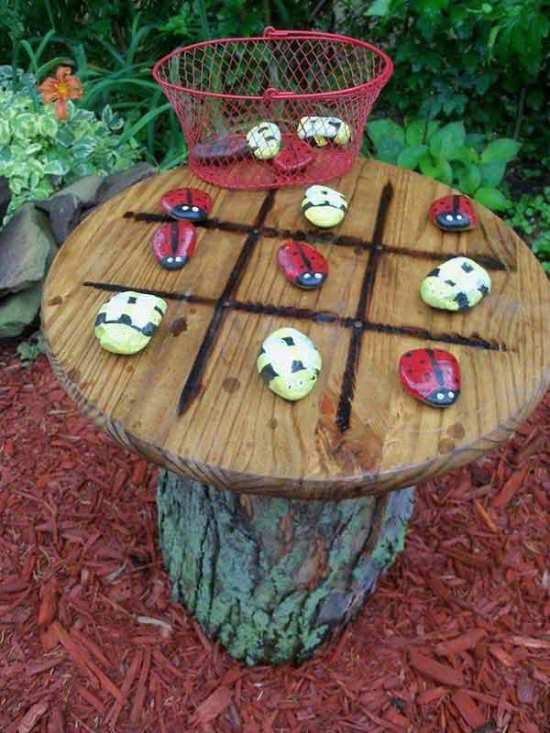 Step 2 Paint Five Of Those Rocks With A Ladybug Pattern And The Other Bumble Bee