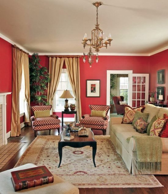 Amazing Red Living Room Designs
