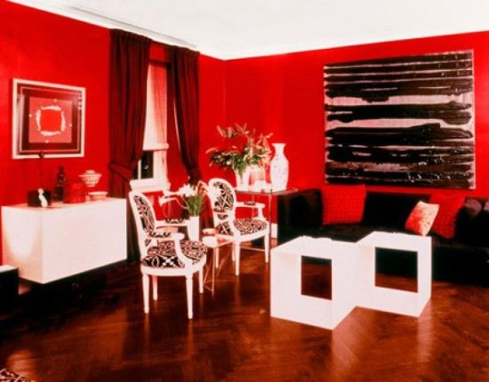 Incroyable Red Living Room Ideas