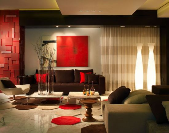 Red living room decor ideas