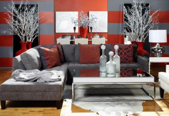 51 red living room ideas ultimate home ideas - Black red and grey living room ...