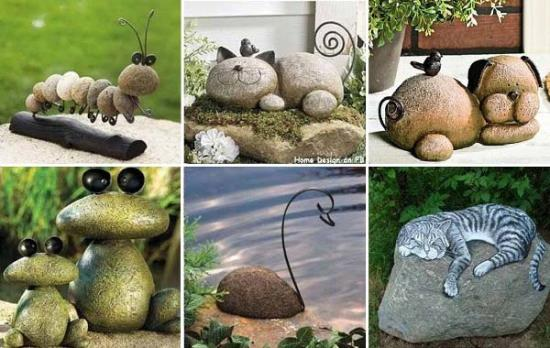rock and stone garden decorations garden decor ideas - Garden Ideas Using Stones