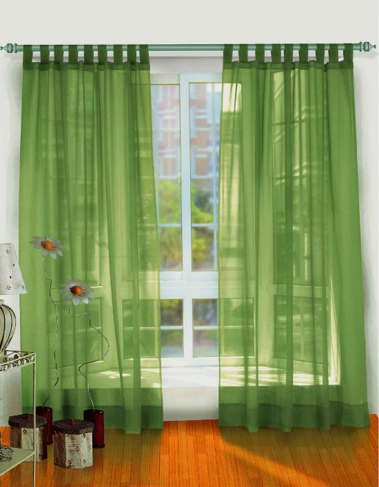 Sheer Green Curtains For Living Room Bay Window Sheet Curtain Ideas