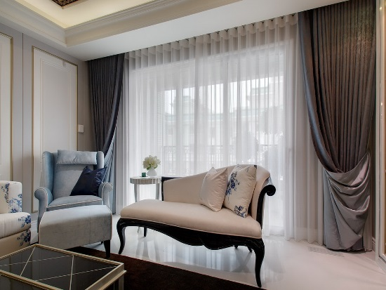 Sheer White Curtains For Modern Living Room. Sheer Curtain Ideas