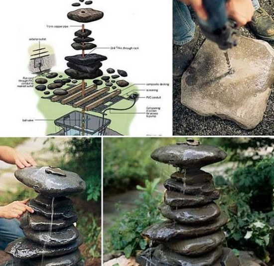 Garden stone decor ideas