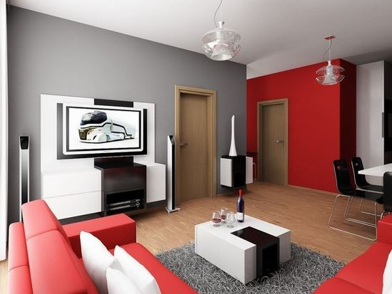 Attractive Red Living Room Ideas