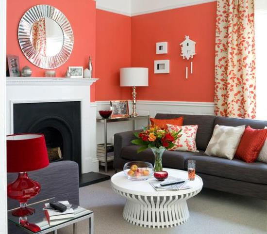 Perfect Red Living Room Designs