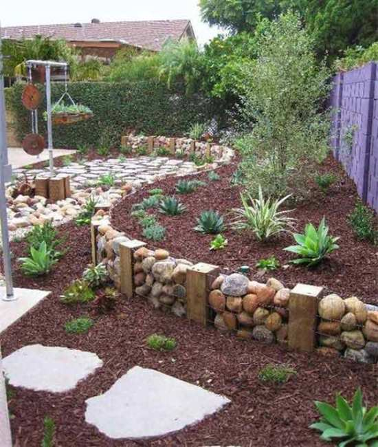 garden decor ideas - Garden Design Using Rocks