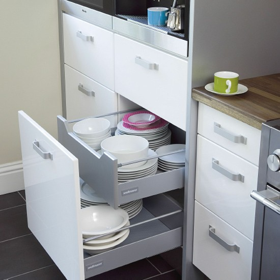 Space Saving Kitchen Design Clever Space Saving Kitchen Ideas With Storage Drawers
