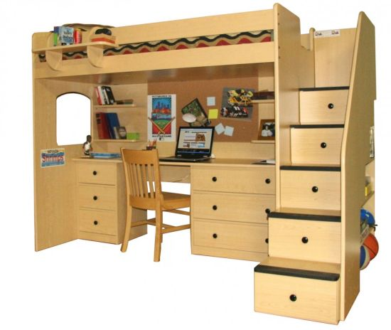 45 bunk bed ideas with desks ultimate home ideas. Black Bedroom Furniture Sets. Home Design Ideas