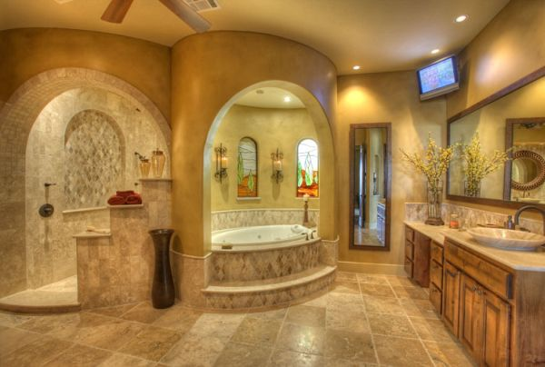 Luxury Master Bathroom With Oasis Theme
