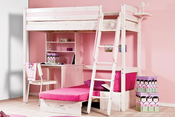 Loft Bed For Girls With Desk: 45 Bunk Bed Ideas With Desks
