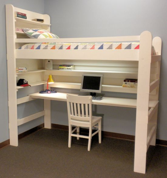 45 bunk bed ideas with desks ultimate home ideas Kids loft bed with desk