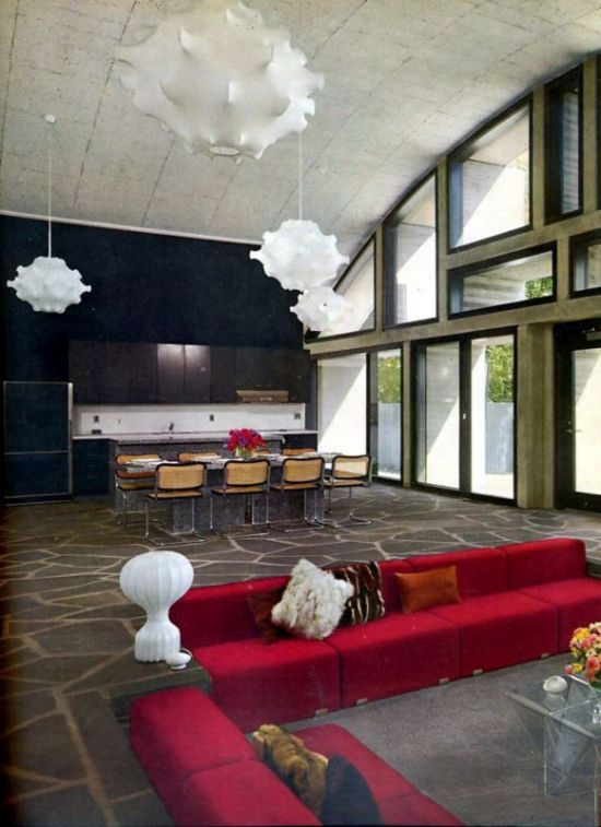 50 cool sunken living room designs ultimate home ideas for Interior design 70s house
