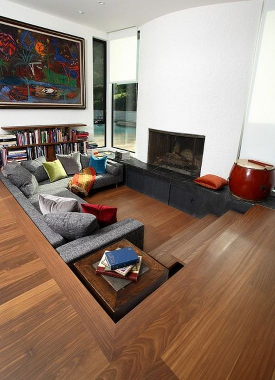 50 cool sunken living room designs ultimate home ideas for Living room floor designs pictures