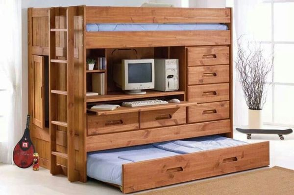 Amazing pink futon bunk beds - 45 Bunk Bed Ideas With Desks Ultimate Home Ideas