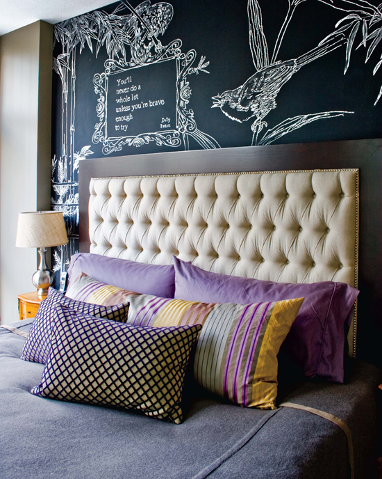 50 chalkboard wall paint ideas for your bedroom for Cool bed head ideas