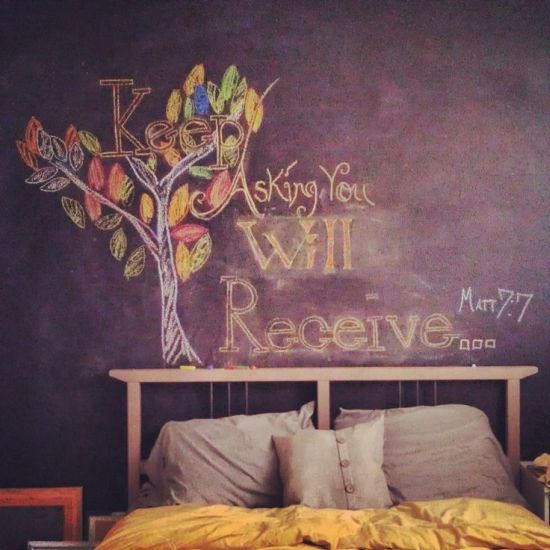 25 Amazing Chalkboard Wall Paint Ideas: 50 Chalkboard Wall Paint Ideas For Your Bedroom