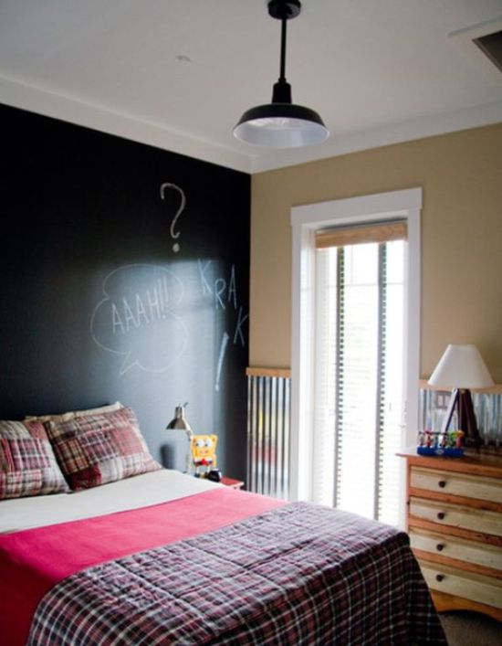 50 chalkboard wall paint ideas for your bedroom. Black Bedroom Furniture Sets. Home Design Ideas