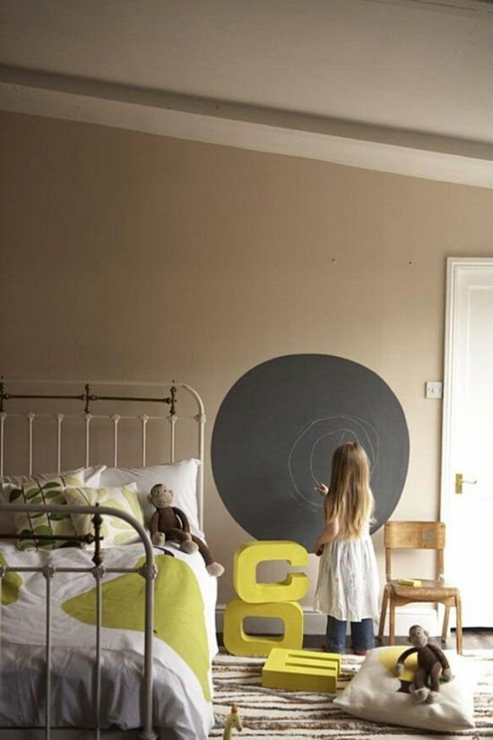 50 chalkboard wall paint ideas for your bedroom - Childrens bedroom wall painting ideas ...