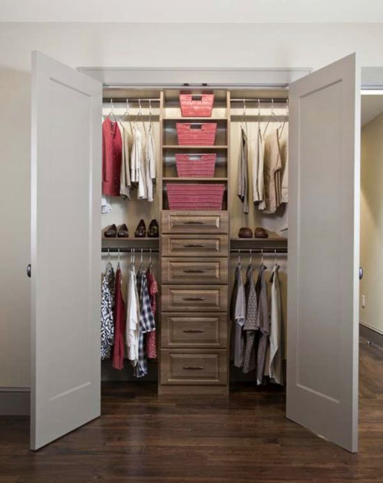 cute walk in closet design for small spaces