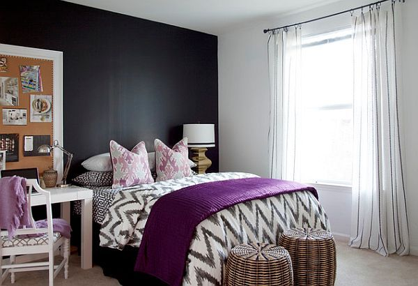 teen bedroom with chalkboard wall chalkboard paint ideas