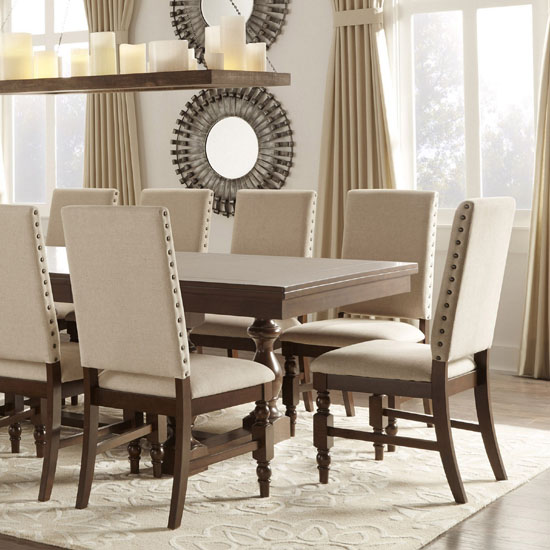 Beautiful Suede Upholstered Dining Room Chairs