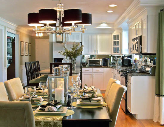 Classy Open Dining Room And Kitchen Design