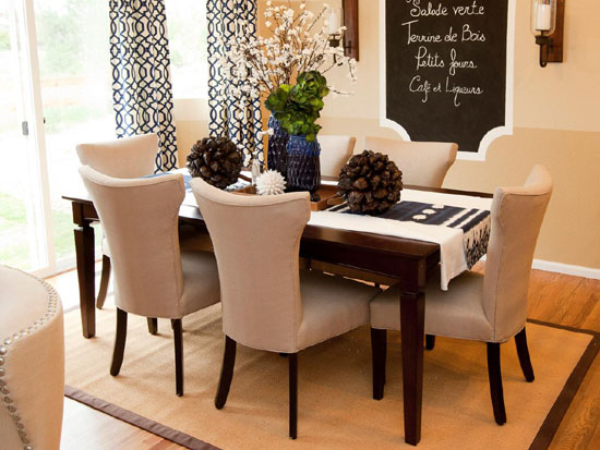 Contemporary Suede Upholstered Dining Room Chairs