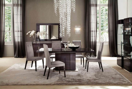 Dining Room Designs Setting With Dark Wood Furniture