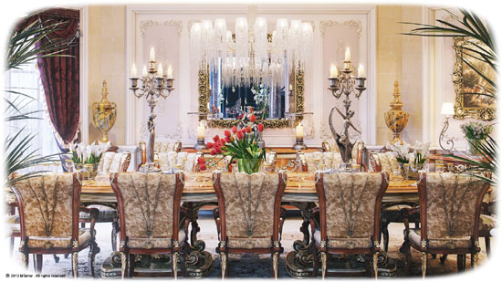 Gold And Brown Upholstered Dining Room Chairs