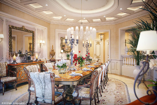 35 luxury dining room design ideas ultimate home ideas for Large dining room ideas
