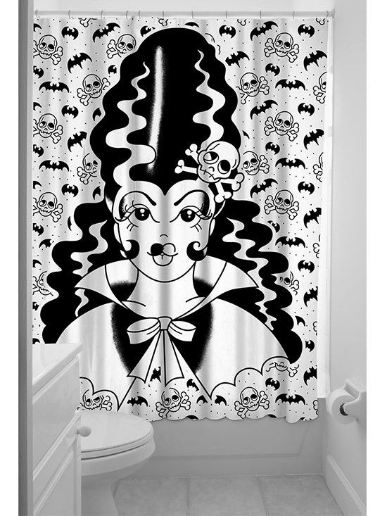 Artistic Spooky Bathroom Shower Curtain