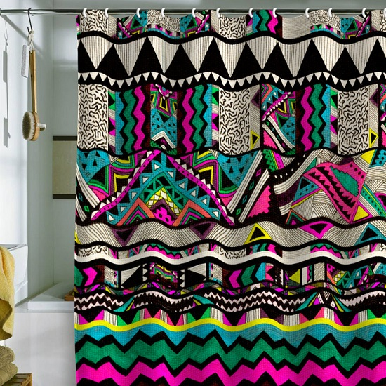 Artistic Vibrant Bathroom Shower Curtain
