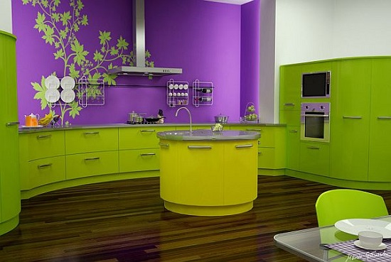 Beautiful Lime Green And Purple Kitchen Ideas