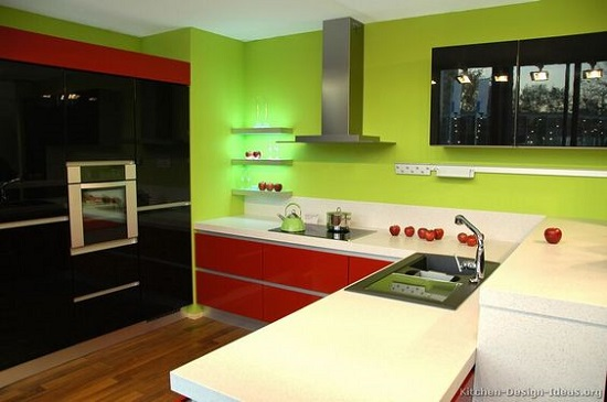 35 eco friendly green kitchen ideas ultimate home ideas for Black and red kitchen designs