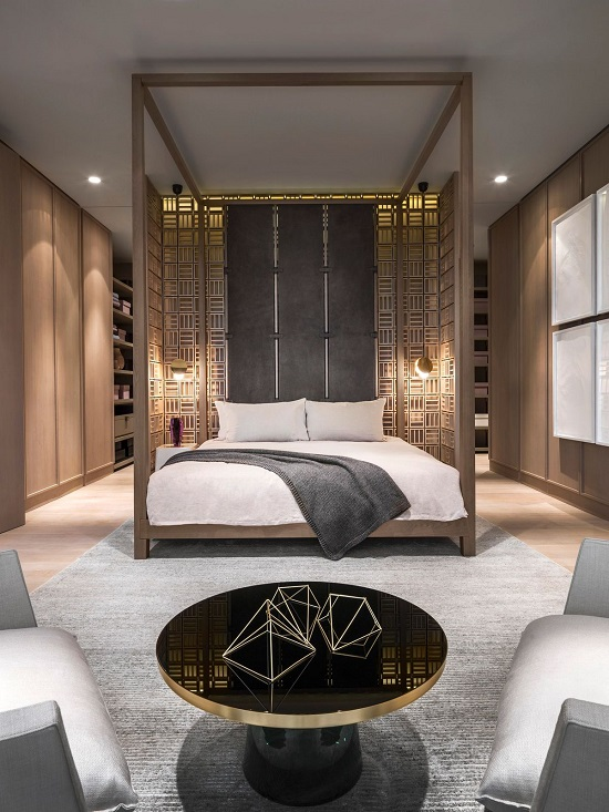 35 gorgeous bedroom designs with gold accents for Four bedroom design