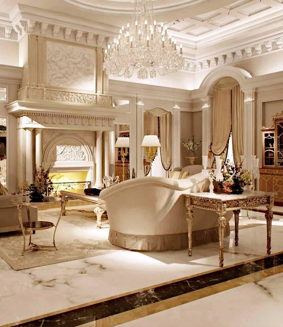 37 fascinating luxury living rooms designs for Classic house furniture galleries