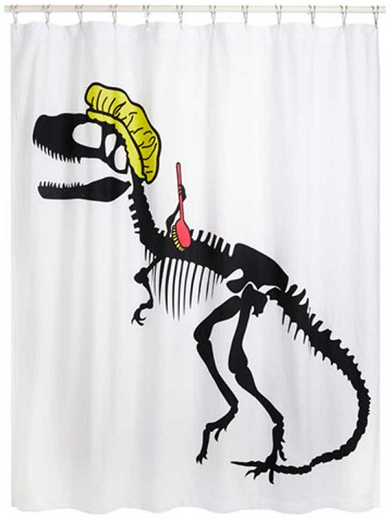 Dinosaur Kids Bathroom Curtain