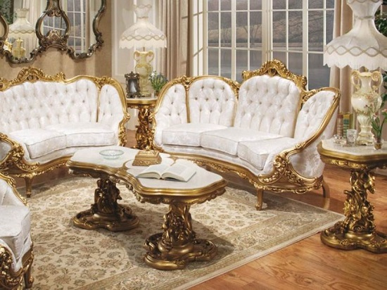 Elite Golden Royal Luxury Living Room