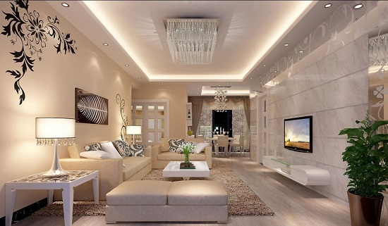 Fiery White Luxury Living Room
