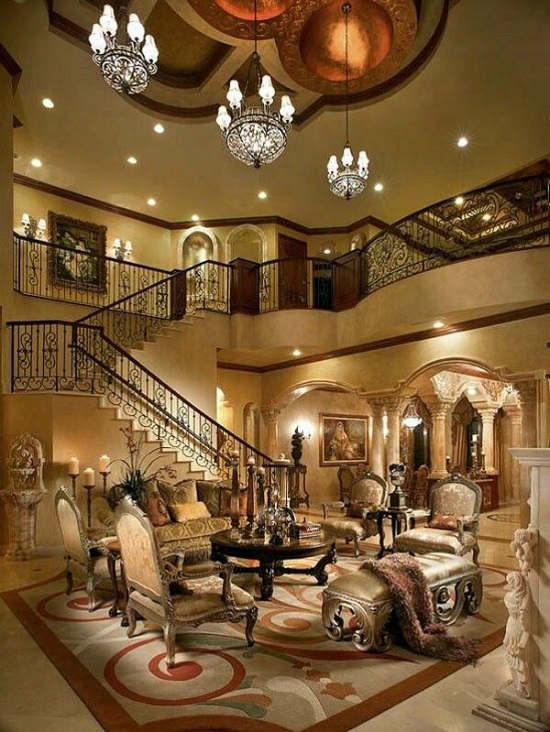 Glamorous Royal Luxury Living Room
