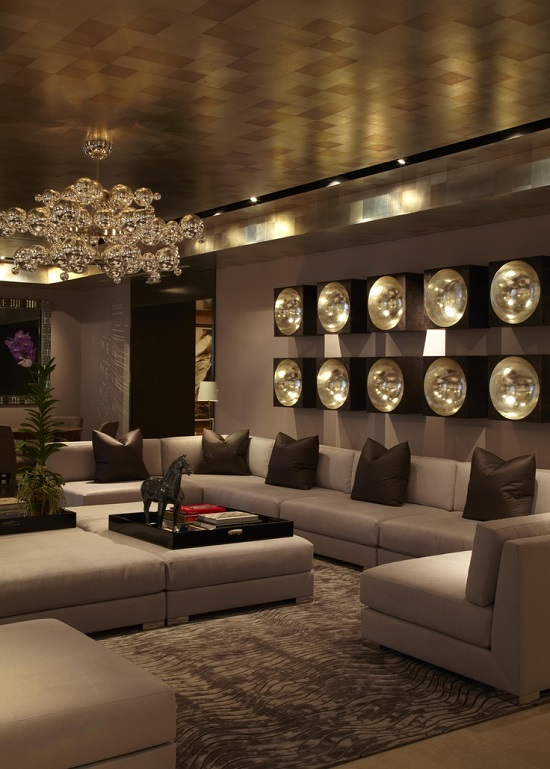 Nice Golden Glory Luxury Living Room Designs