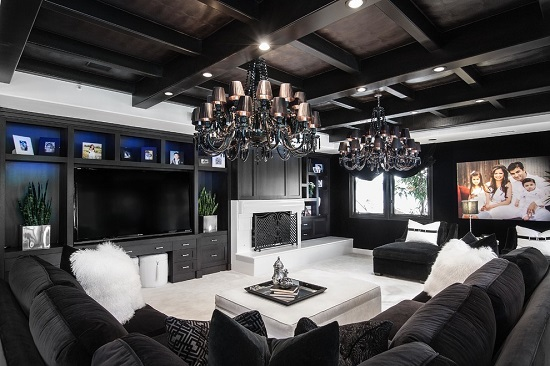 Great Lavish Black U0026 White Luxury Living Room