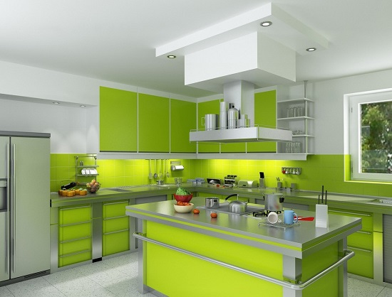Lime Green Kitchen Design Ideas