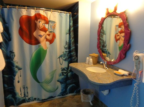 37 funky bathroom shower curtains ultimate home ideas - Little mermaid bathroom ideas ...