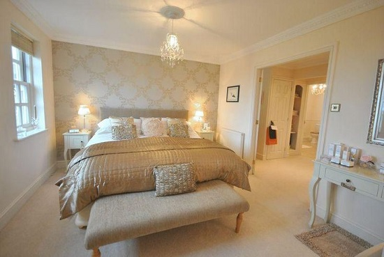 35 gorgeous bedroom designs with gold accents for Bedroom ideas uk