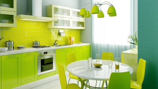 Pure Lime Green Kitchen Decor Ideas